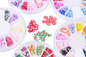 5 Wheels Super Set of Nail Art Fimo Slices Fimo Decal Pieces Accessories. The Perfect 3d Nail Art Decorations. 60 Different Designs etopsell