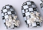 Nails gaga 10pcs 3D Alloy Rhinestones Nail Decoration N1083