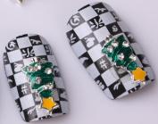 Nails gaga 10pcs 3D Alloy Rhinestones Nail Decoration N1089