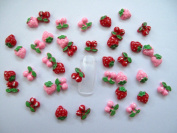 Nail Art 3d 40 Mix Cherry & Strawberry for Nails, Cellphones