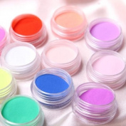 350buy New 12 Colours Nails Art. Nail Powder Dust Glitter Kit