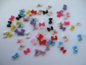 Nail Art 3d 60 Resin Mix Small Bows/Rhinestone for Nails, Cellphones .8cm