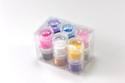 New Fashion 12 Pots Velvet Soft Flocking Powder 3d Nail Art Tips Decoration Set