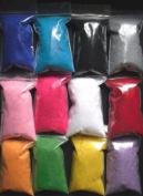 12 Colours (120g) Silky Velvet Flocking Powder Manicure Nail Art Polish