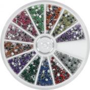 Nail Art Rhinestone Carousel Pack Snowflake 3.4mm 720pcs