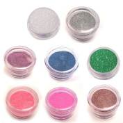 Moyou Nail Art acrylic nails Glitter Powder 8 colours bundle