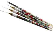 Nail Art Brush Floral 4 Styles