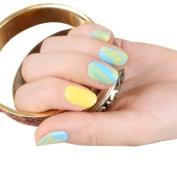 SKINNY nail NEW Yellow Scarf Nail Art Patch Sticker