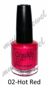 Larosa Crackle Nail Polish Hot Red Shatter 15ml