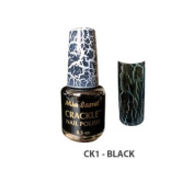 Mia Secret Crackle Nail Polish Black 15ml
