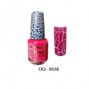 Mia Secret Crackle Nail Polish Rose 15ml