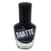 L.A. Girl Matte Finish Nail Polish NL537 Matte Black