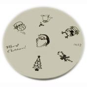 Konad Stamping Nail Art Image Plate - M12