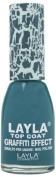 Layla Cosmetics Graffiti Top Coat N.11 Turquoise Vintage Nail Polish