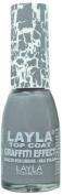 Layla Cosmetics Graffiti Top Coat N.18 Grey Nail Polish