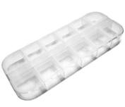 10PC Nail Art Acrylic Rhinestone Plastic Case Ongles