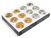 Nail Art DIY Decoration Gold Silver Foil Paillette FLAKE Acrylic UV Gel