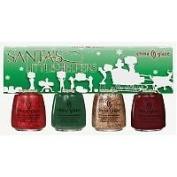 China Glaze Santa's Little Helpers Gift Set - 4 mini bottles