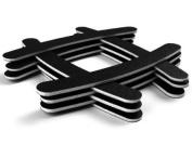 30PC Nail File Buffing Sandpaper Polisher Black Grit Salon Tool Set