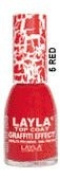 "Layla Top Coat Graffiti Effect ""Cracked"" #05 Red"
