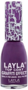 Layla Cosmetics Graffiti Top Coat N.9 Violet Storm Nail Polish