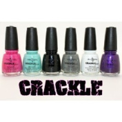 China Glaze Crackle Shatter 6 Bottle Set