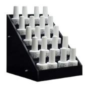 Black Acrylic Nail Polish Small Display Stand Rack Organiser Table Counter Top