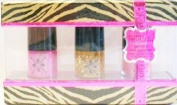 Simply Chic Pink Set Trio Nail Polish in Zebra Box - Pink, Gold