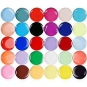 30 Pure Colours Nail Art UV Gel Builder Acrylic Tips Glue 0.25OZ-8ml