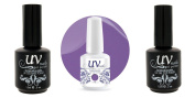 UV-Nails Soak-Off Gel Candy Purple G30+Base & Top Coat+Aviva Nail Buffer & File