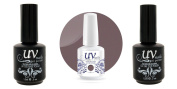 UV-Nails Soak-Off Gel Lilac Shine G33+Base & Top Coat+Aviva Nail Buffer & File
