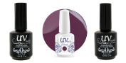 UV-Nails Soak-Off Gel Midnight Mauve G31+Base & Top Coat+Aviva Nail Buffer & File
