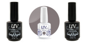 UV-Nails Soak-Off Gel Moody Mauve G27+Base & Top Coat+Aviva Nail Buffer & File