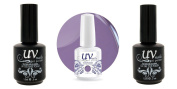 UV-Nails Soak-Off Gel Violets For You G29+Base & Top Coat+Aviva Nail Buffer & File