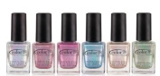 Colour Club Hues 6pcs Collection Cloud Nine Angles Kiss Harp on It Holographic