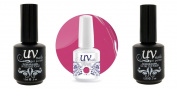 UV-Nails Soak-Off Gel Cherry Pie G37+Base & Top Coat+Aviva Nail Buffer & File