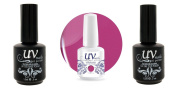 UV-Nails Soak-Off Gel Marvellous Maroon G38+Base & Top Coat+Aviva Nail Buffer & File