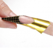350buy 100 x Golden Nail Art Tips Extension Forms Guide French DIY Tool Acrylic UV Gel