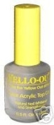 Blue Cross Yello Out Clear Acrylic Nail Polish Top Coat 15ml B6003791