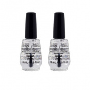 Lot 2 Poshe 15ml Super Fast Drying Top Coat Nail Polish Salon Manicure DRY