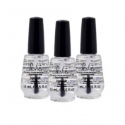 Lot 3 Poshe 15ml Super Fast Drying Top Coat Nail Polish Salon Manicure DRY