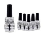 Lot 6 Poshe 15ml Super Fast Drying Top Coat Nail Polish Salon Manicure DRY