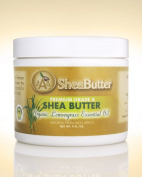 100% Unrefined Certified Grade A Shea Butter with a Hint of Organic Lemongrass Essential Oil 120ml By AAA Shea Butter
