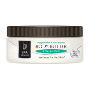 Bon Vital Body Butter Finishing, Peppermint & Eucalyptus, 240ml Jar