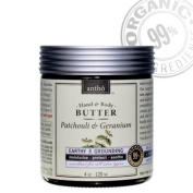 Organic Body Butter - Raw Shea - Exotic Patchouli, Geranium