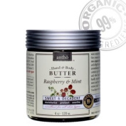 Organic Body Butter Cream - Raw Shea Butter - Raspberry Mint
