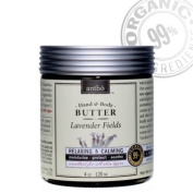 Organic Body Cream - Raw Shea Butter - Lavender 4oz/120ml