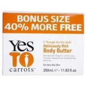 Yes To Carrots Deliciously Rich Body Butter Bonus Size 40% More 11.83 Oz/350ml