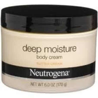 Neutrogena Deep Moisture Body Cream, Butter Cream, 180ml 2 Pack
