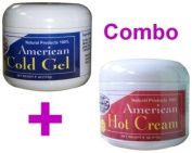 American Natural Hot Cream + Cold Gel Combo 2 x 120ml Weight Loss